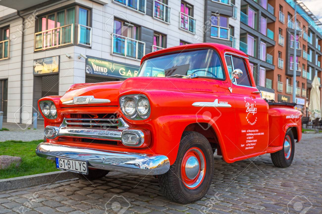 Gdansk Poland May 5 2018 Red Chevrolet Apache Pickup Parked Stock Photo Picture And Royalty Free Image Image 107544999