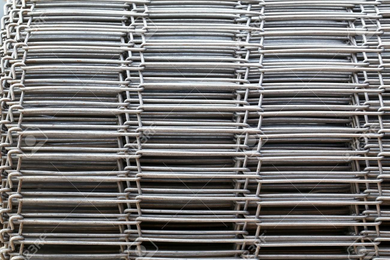 Iron Wire Fence, Stainless Steel Metal Mesh. Stock Photo, Picture ...