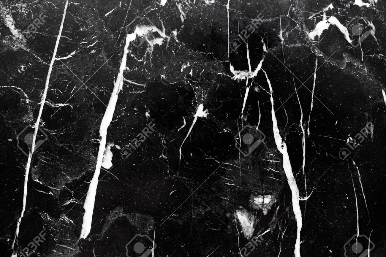 Abstract Natural Black Marble Texture Background For Interiors