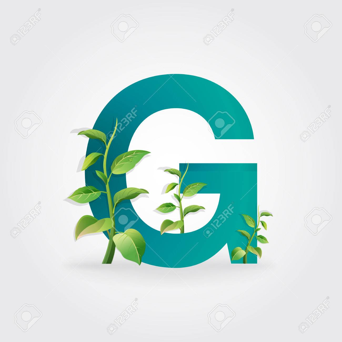 Green eco letters logo with leaves symbol alphabet letter green eco letters logo with leaves symbol alphabet letter g botanical biocorpaavc Gallery