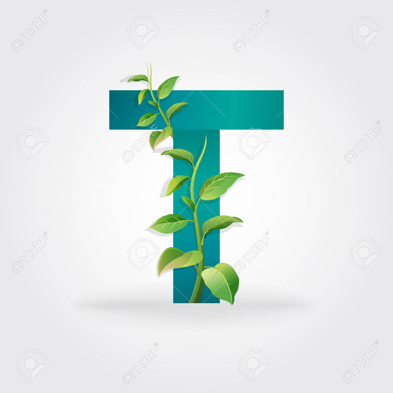 Green eco letters logo with leaves symbol alphabet letter green eco letters logo with leaves symbol alphabet letter t botanical biocorpaavc Gallery