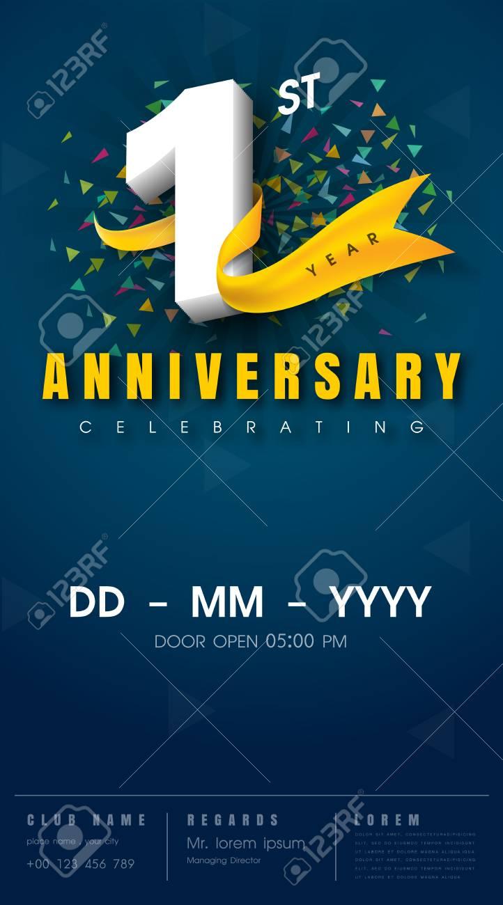 1 Year Anniversary Invitation Card
