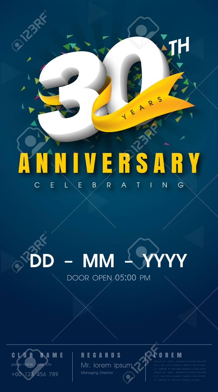 Audacieuse Carte D'invitation Anniversaire 30 Ans - Conception De Modèle De YL-96