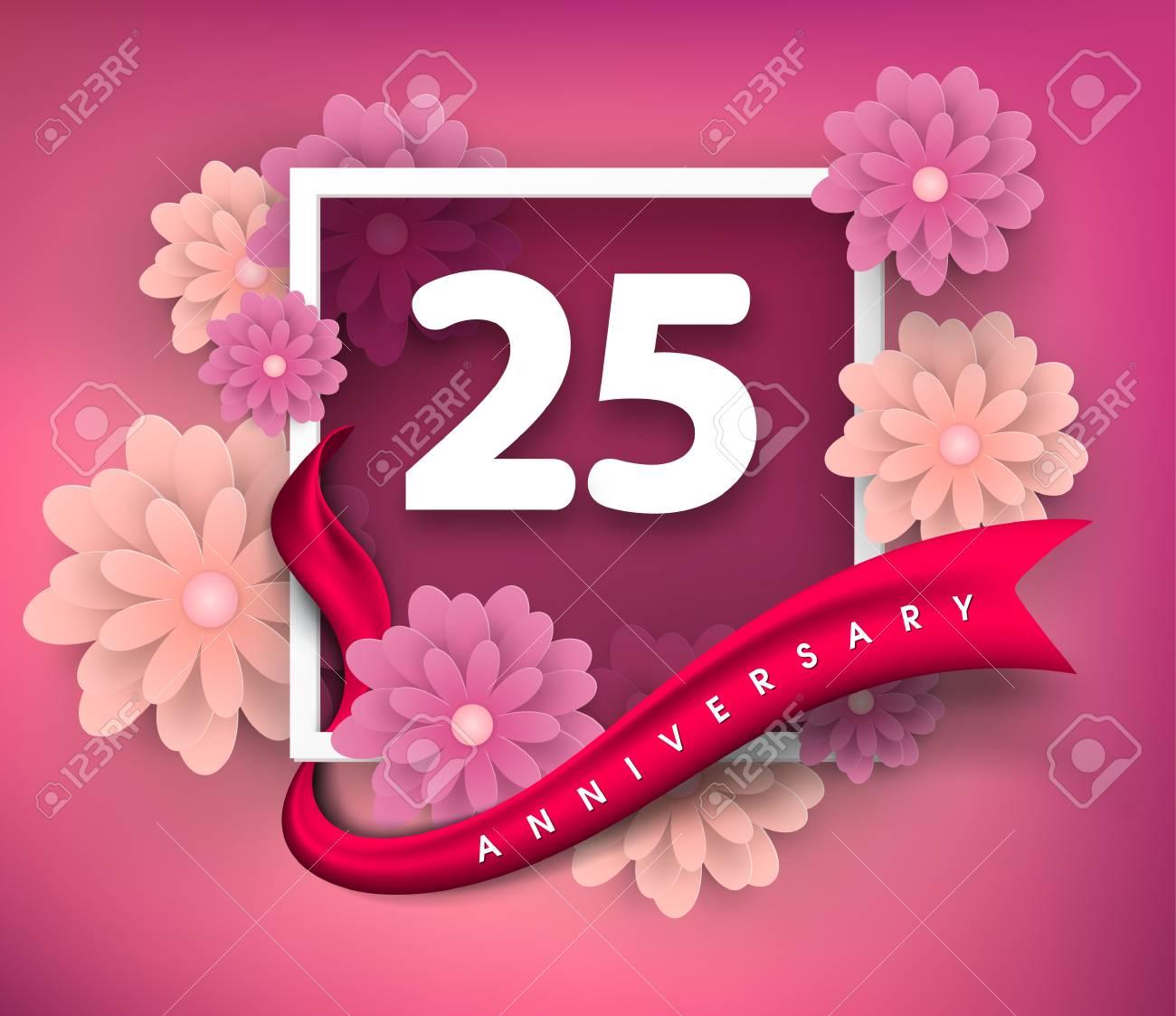 25 anniversary invitation card royalty free cliparts vectors and 25 anniversary invitation card stock vector 73169470 stopboris Image collections