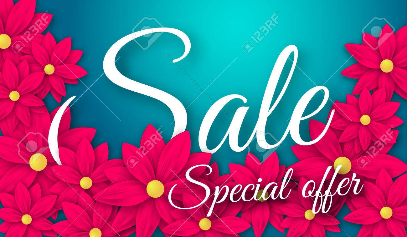 Sale with beautiful colorful flower for templatebannerswallpaper sale with beautiful colorful flower for templatebannerswallpaper invitation posters izmirmasajfo