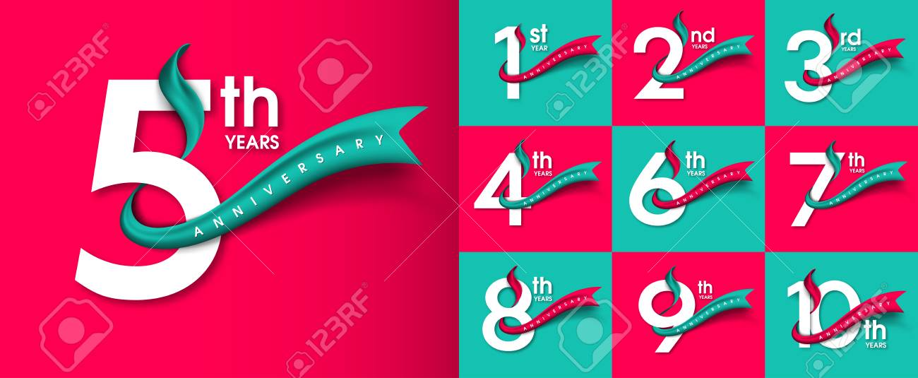 Set of Anniversary emblems , anniversary template design for web, game ,Creative poster, booklet, leaflet, flyer, magazine, invitation card - 87952109