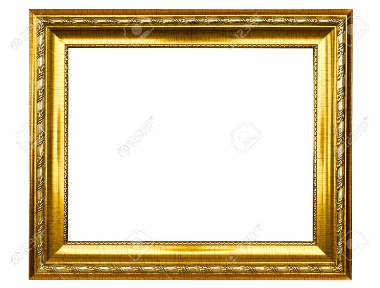 antique gold picture frame stock photo 9763241