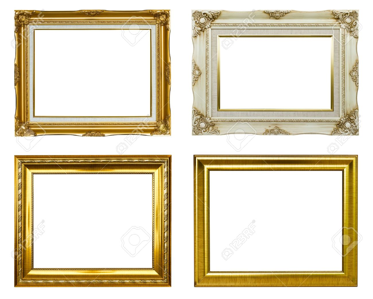 Set Of Rectangular Vintage Picture Frames Stock Photo, Picture And ...