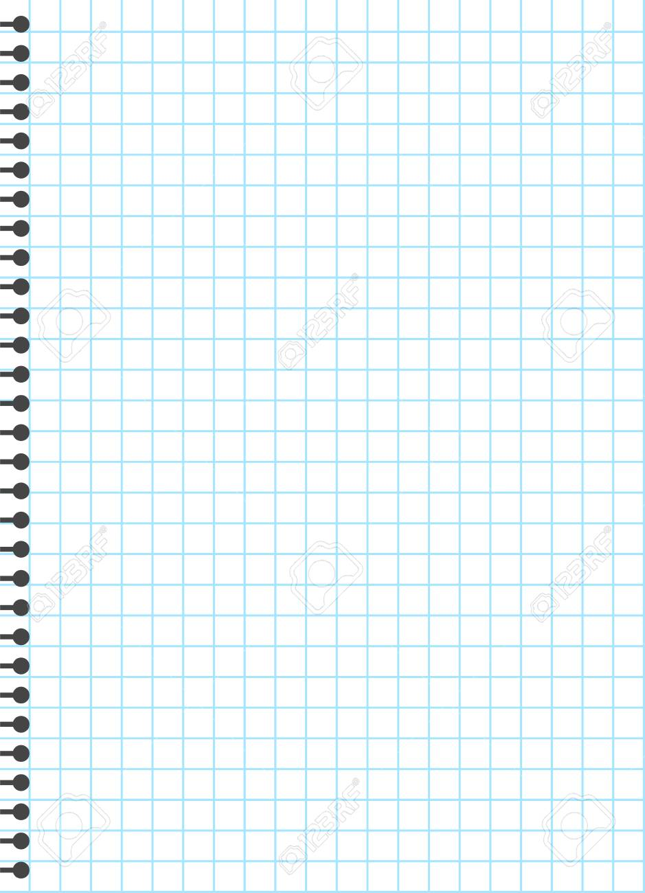 blank lined paper template, one page, notebook & exercise book