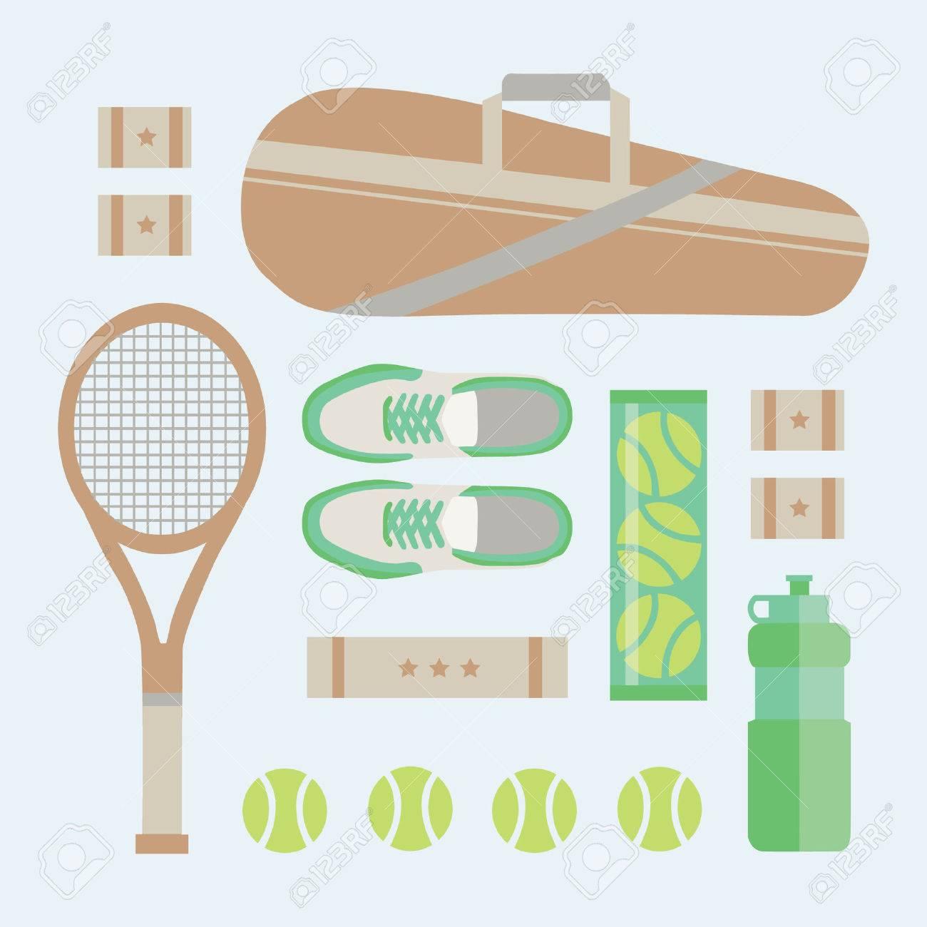 new concept 8194b 65abf FLAT LAY Tennisausrüstung