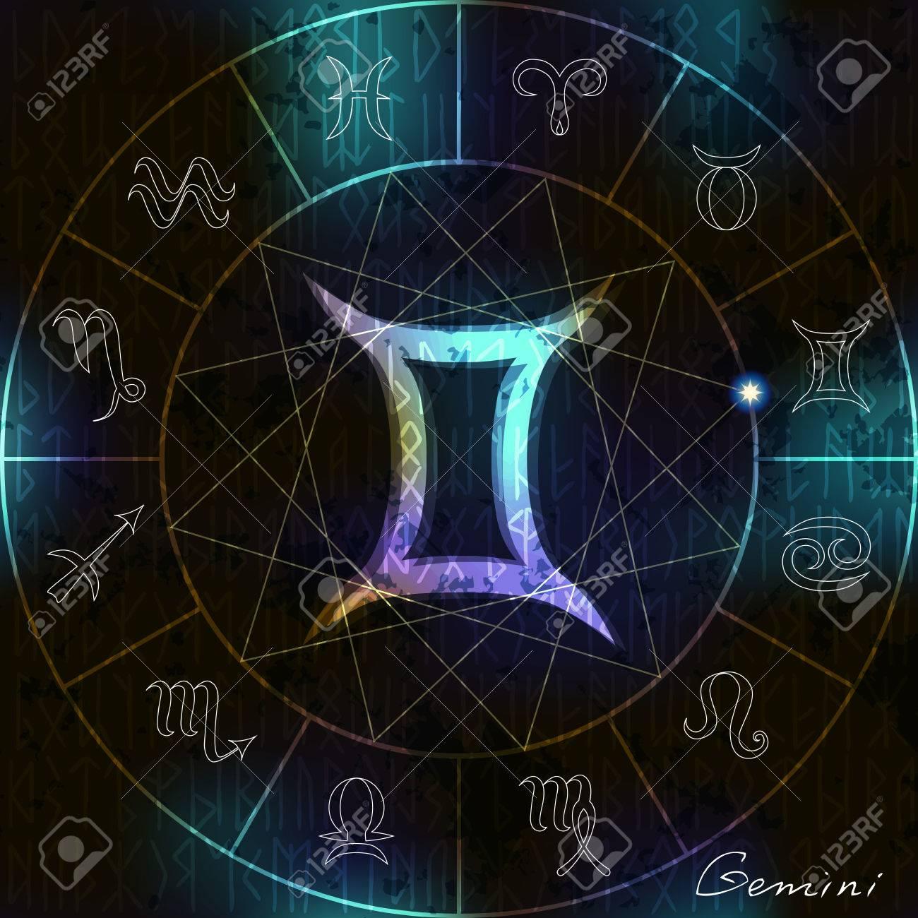 Magic circle with gemini astrological symbol in center royalty magic circle with gemini astrological symbol in center stock vector 34910781 buycottarizona
