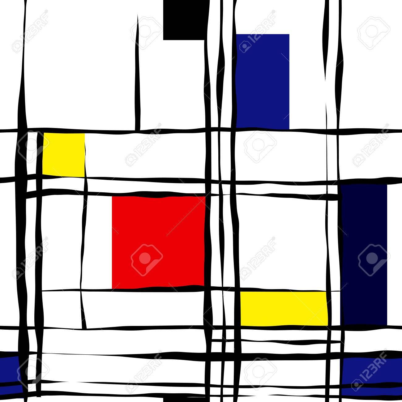 Seamless background pattern. Retro geometric pattern on white. - 40915582
