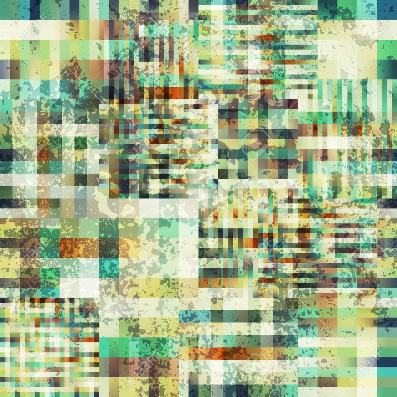 Seamless Background Motif à Carreaux Pixel Abstrait Avec Leffet Grunge