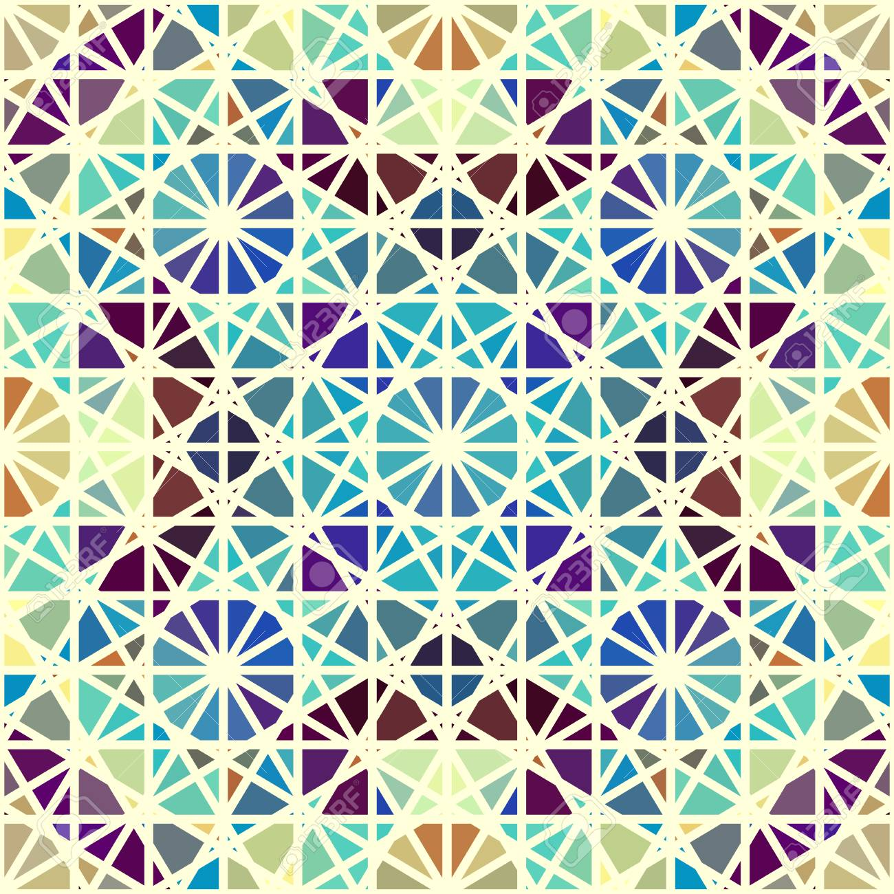 Seamless Arabic Geometric Pattern. Vector Traditional Muslim Background.  East Culture, Arabesque, Persian