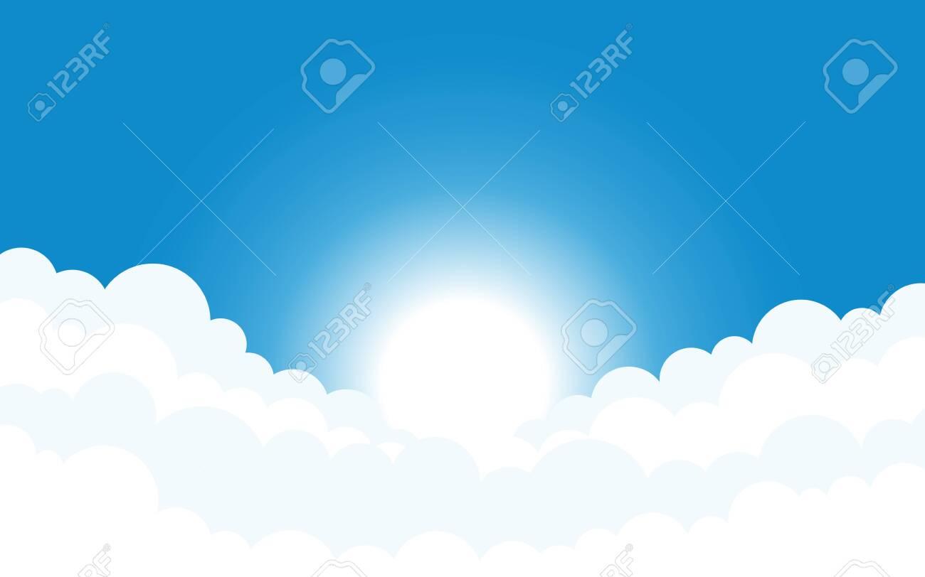 Sky and clouds background vector design illustration - 151214798