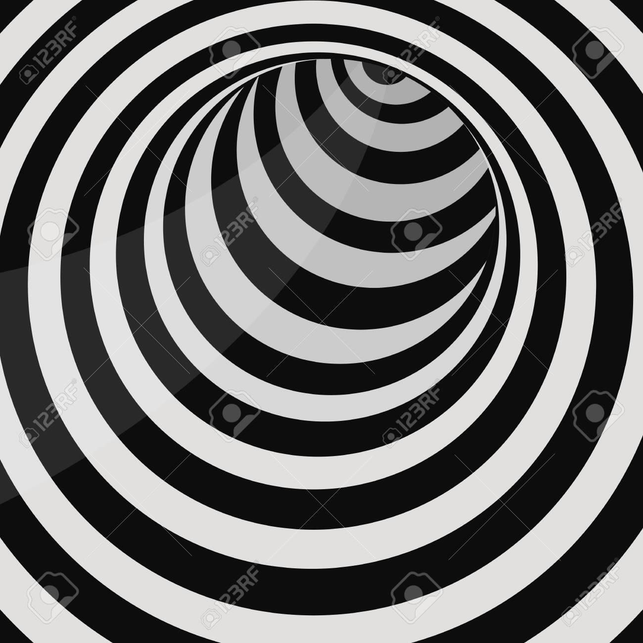 Futuristic circle tunnel vector design illustration - 151222275