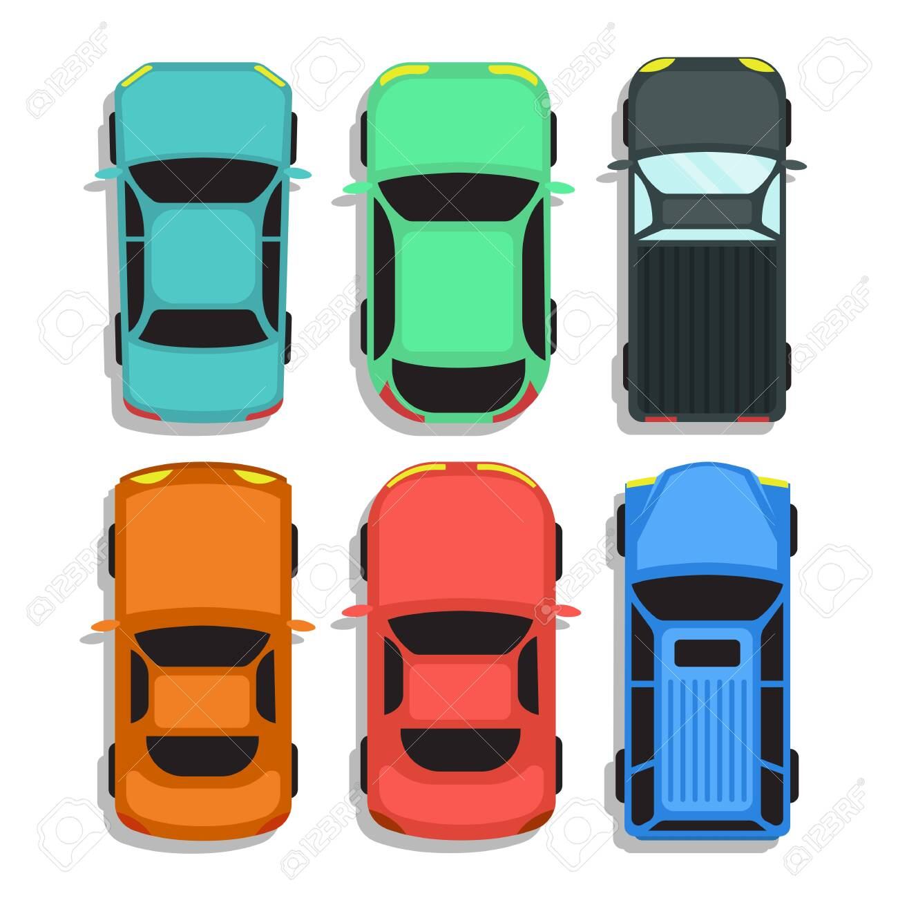Car top view vector design illustration isolated on white background - 151185467