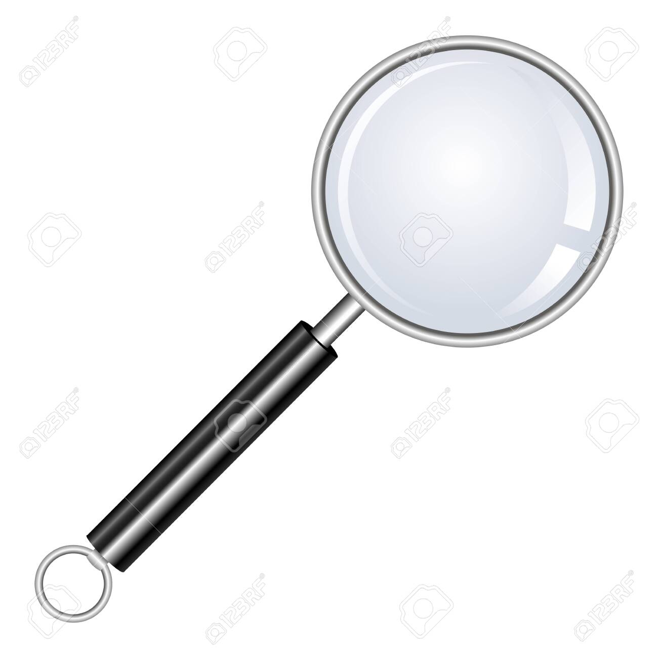 Magnifying glass vector design illustration isolated on white background - 151091348