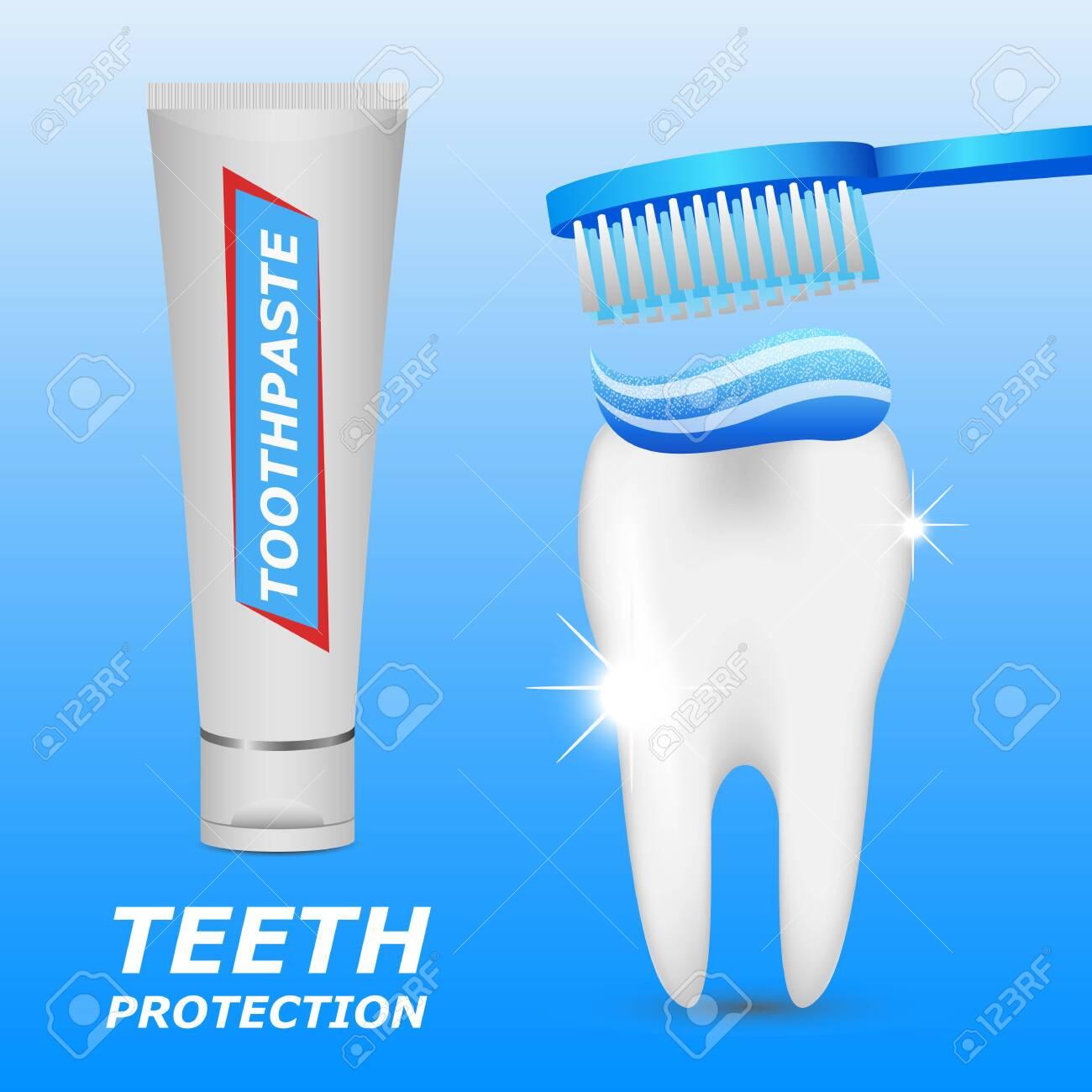 Dental hygiene vector design illustration isolated on blue background - 151092276