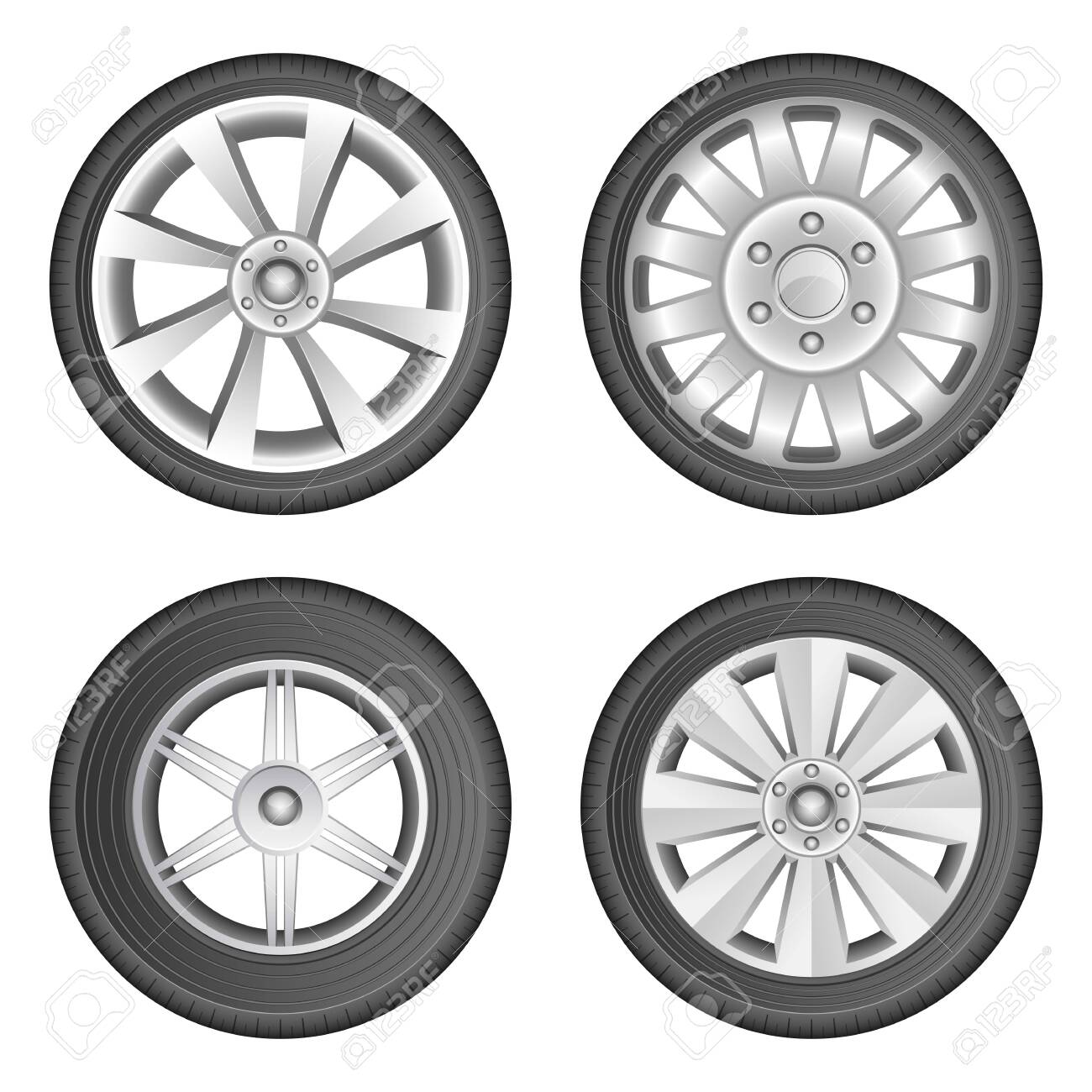 Car tyre vector design illustration isolated on white background - 151728687