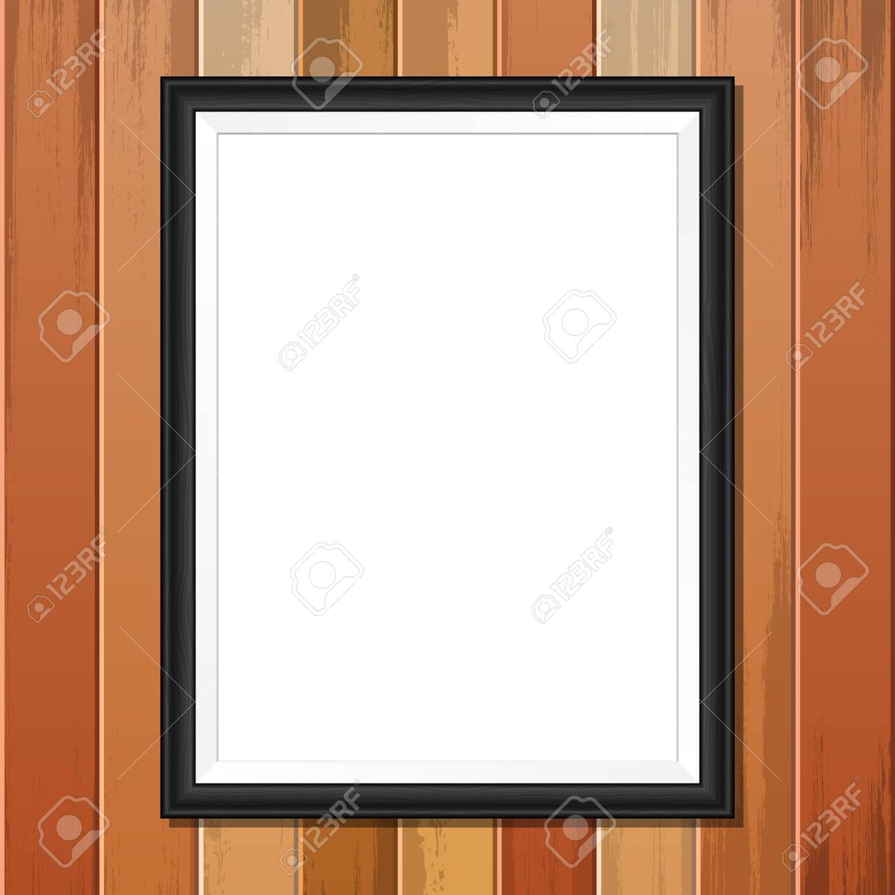 Photo frame vector design illustration isolated on wooden background - 151320317