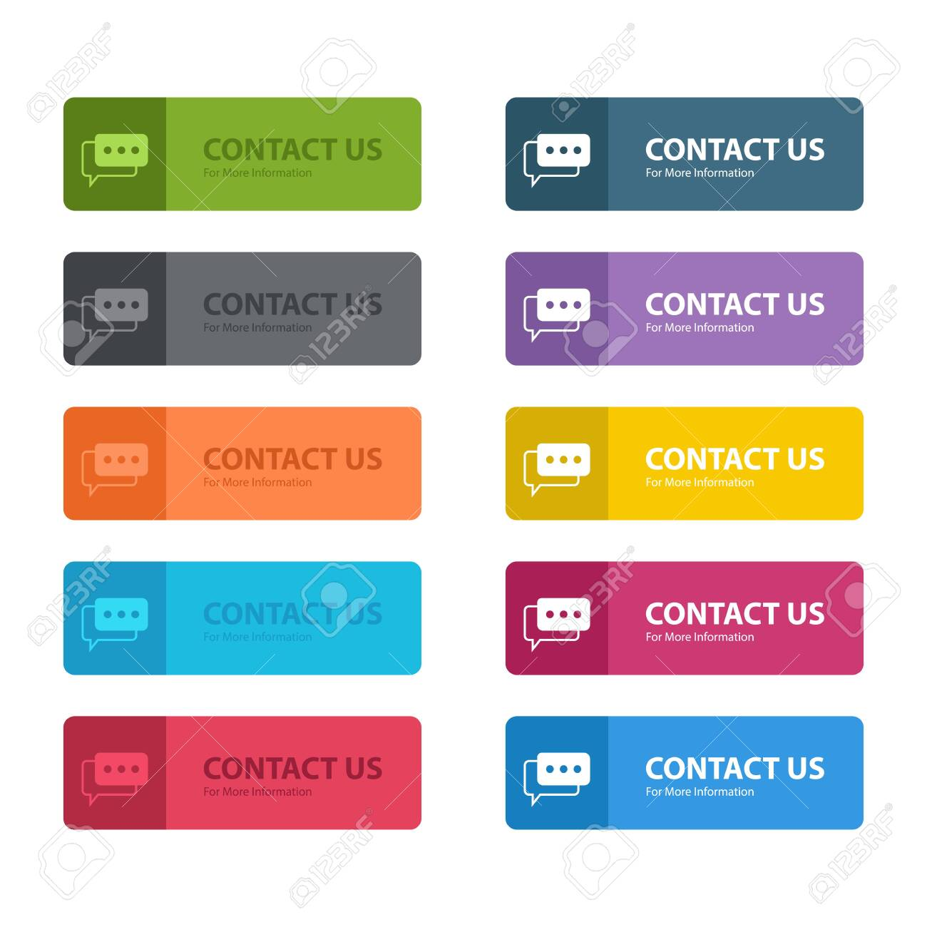 Contact us button vector design illustration isolated on white background - 152012725