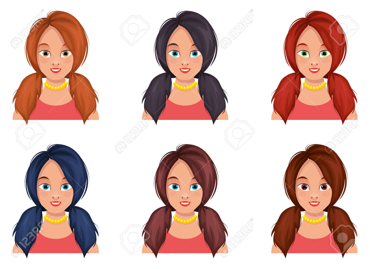 Woman face vector design illustration isolated on white background - 168188751