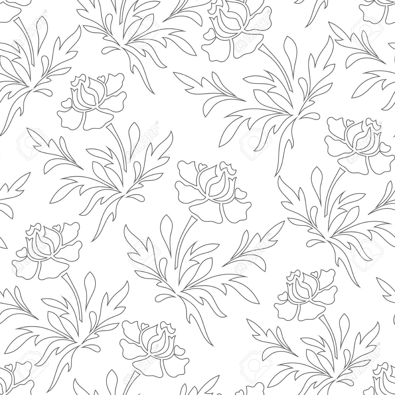 Stroke Stancil Vector seamless pattern background like pencil art. Perfect use for wall-paper, fabric, textile, wrapping paper and many other type of surface. - 124697593