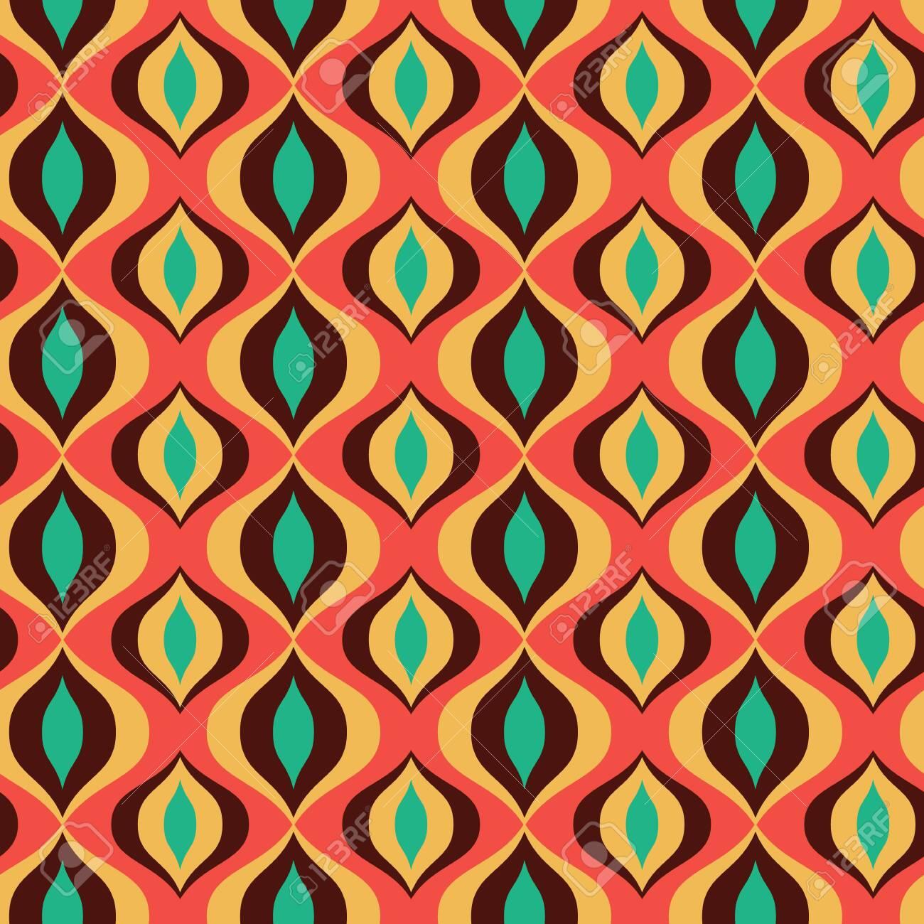 Vector Multicolored 20s, 20s Retro Vintage Ornament Seamless ...
