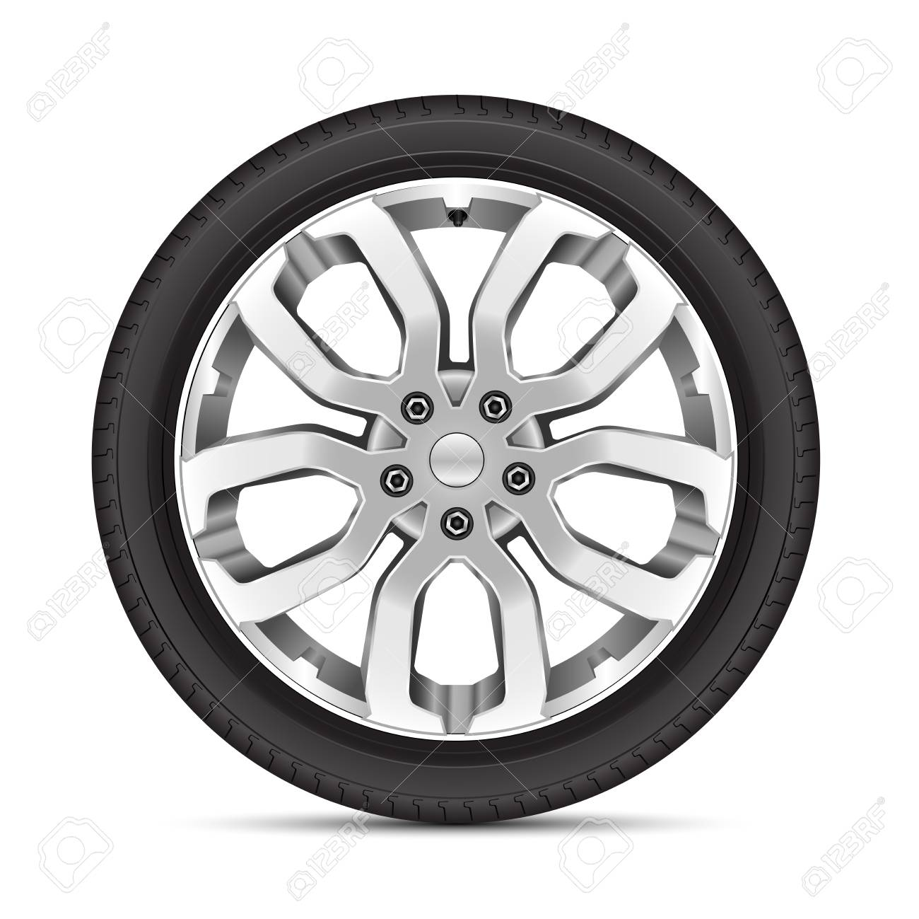 Realistic Car Wheel Alloy Sport On White Background Vector Illustration Royalty Free Cliparts Vectors And Stock Illustration Image 107531486