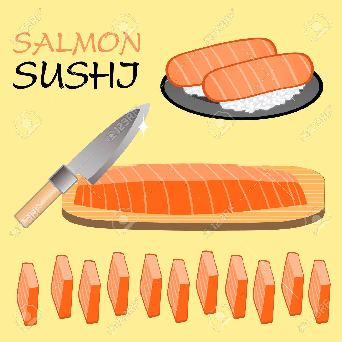 Cute Salmon sushi - 33939220