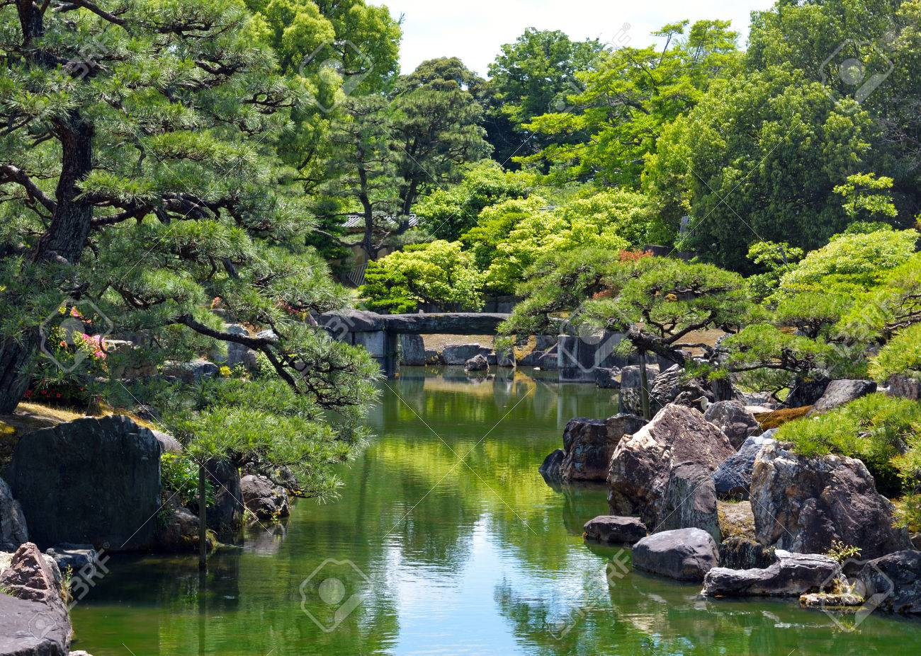 Ninomaru Garden, Nijo Castle, Kyoto, Japan Stock Photo - 80166620
