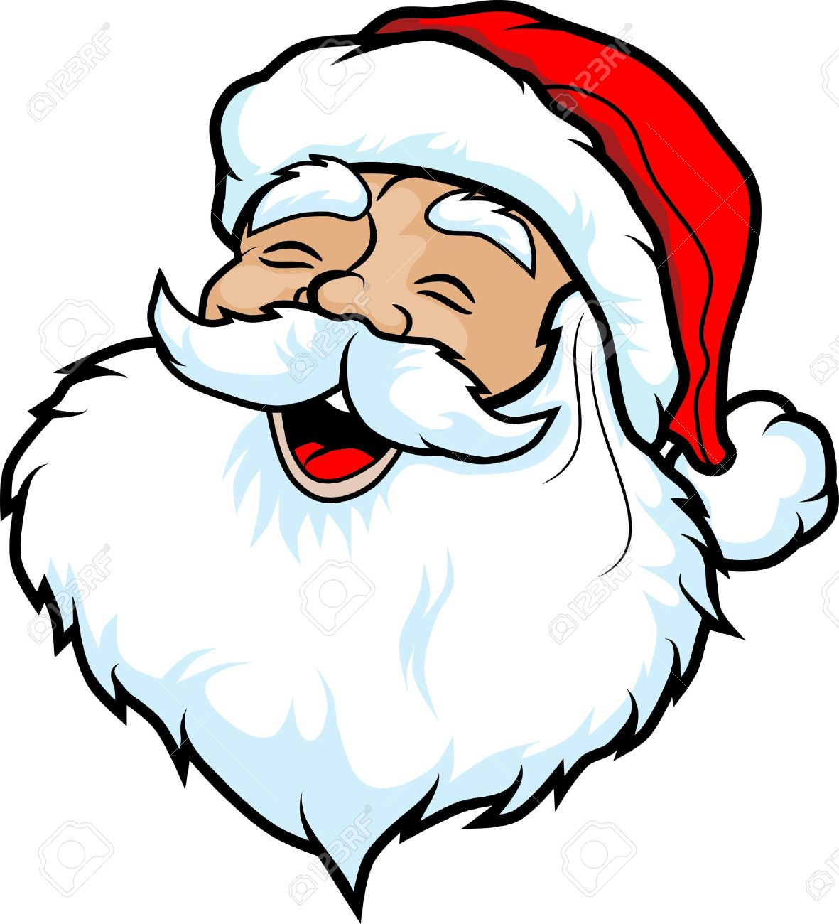 Illustration Of The Face Of Santa Claus Cartoon Style Royalty Free