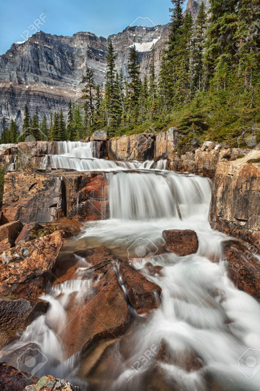 Giant Steps Waterfall, Banff National Park, Alberta, Canada with