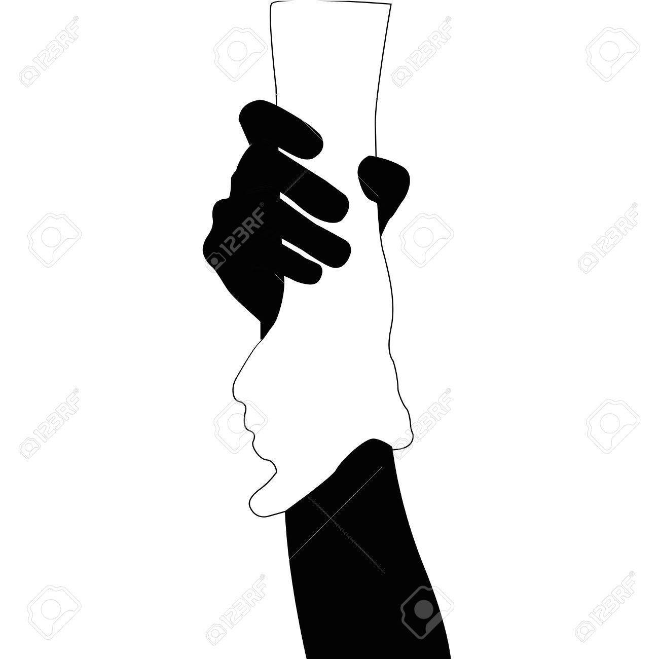 helping hands vector black and white on white background royalty rh 123rf com hand vector logo hand vector free