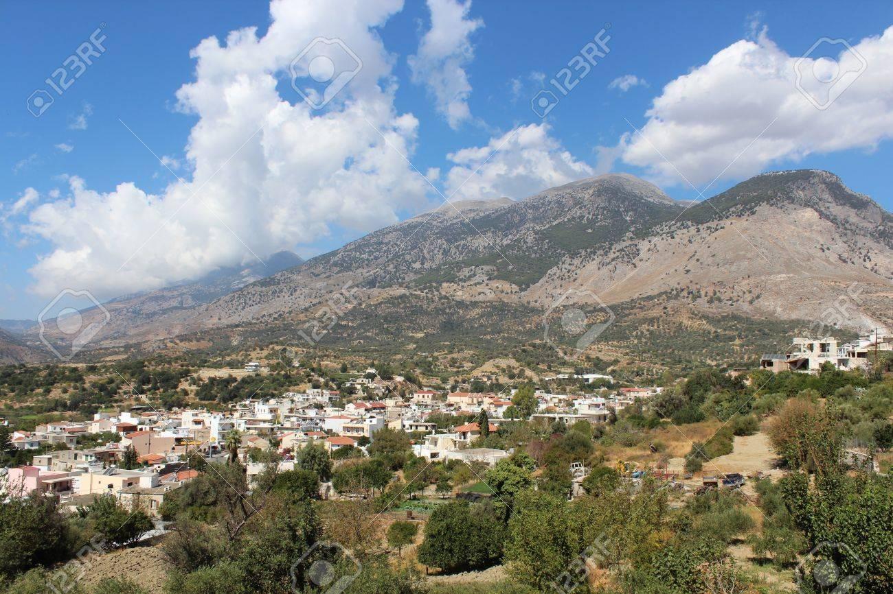 Mountain village of Crete Stock Photo - 16759463