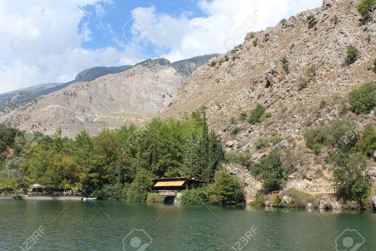 Lake Votomos near Zaros in Crete Stock Photo - 16838229
