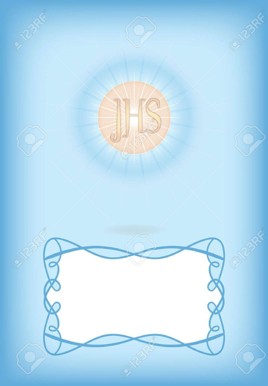 Greeting card for First Communion Stock Vector - 10844098