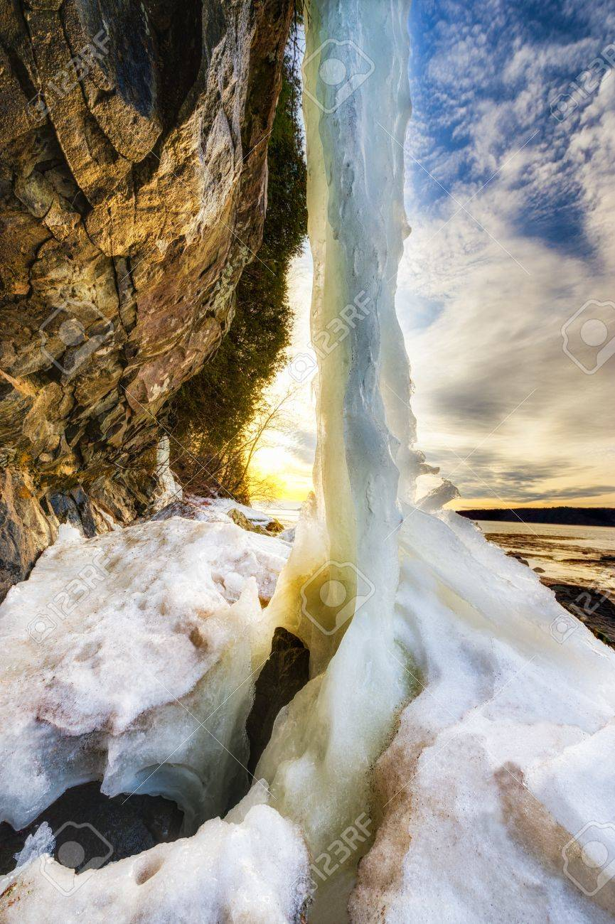 Beautiful landscape with melting ice to show the spring time or global warming climate change. Stock Photo - 12874071