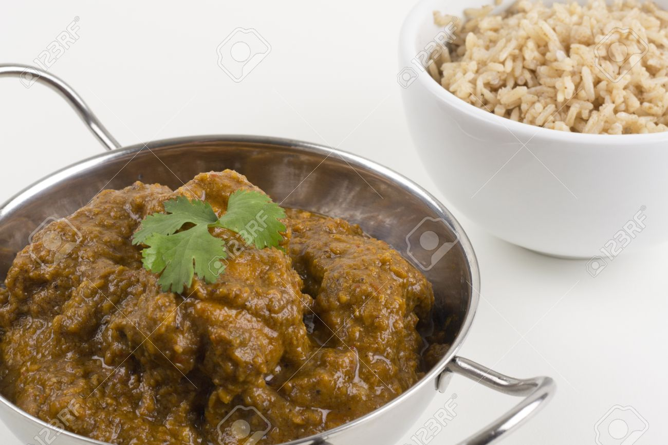 Goan Chicken XacutiChacuti De Galinha Served With Pilau Rice