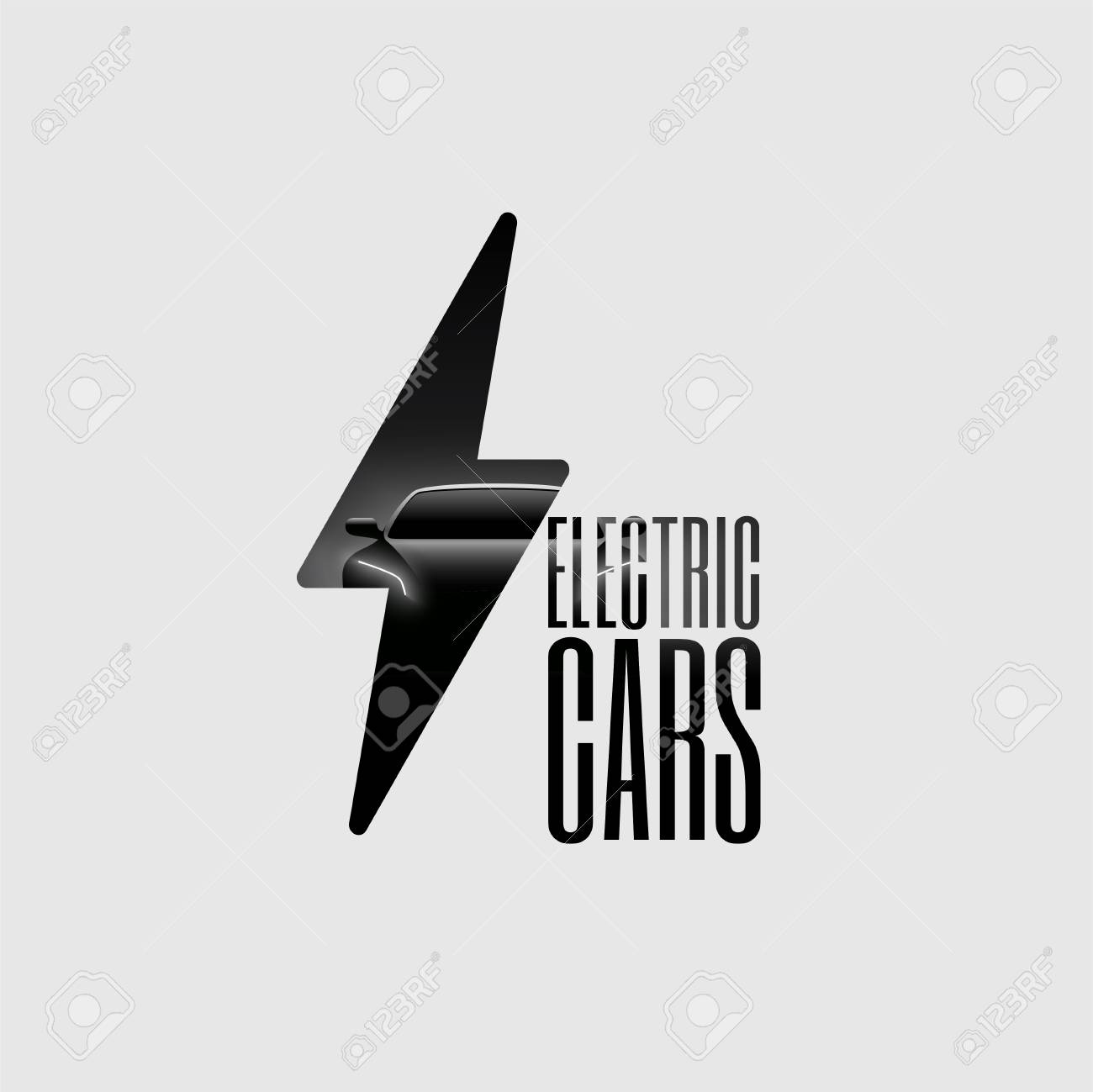 Electric Car Poster Flyer Banner Sign Template. Minimalist Vector ...