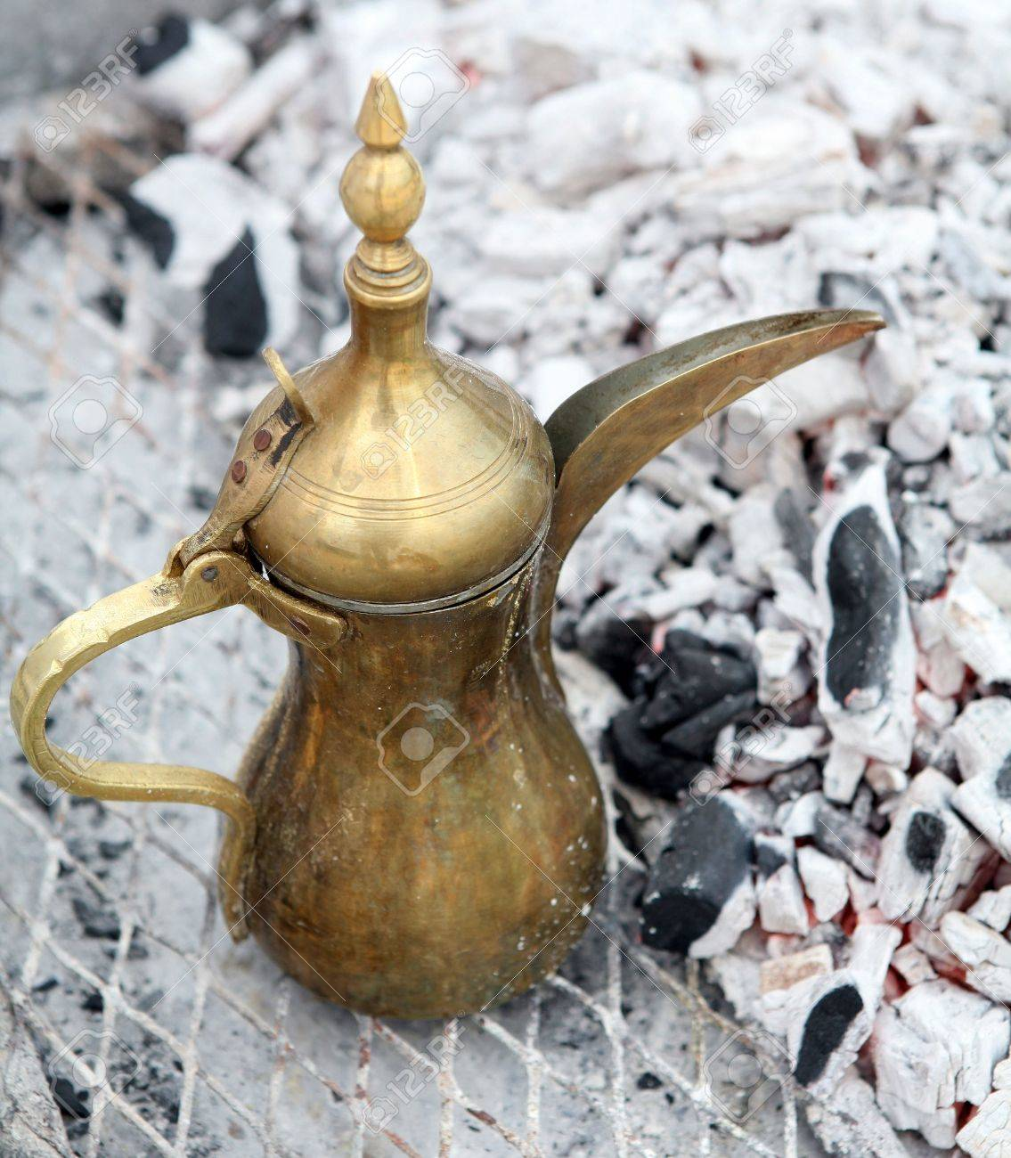 A traditional gulf brass dallah coffee pot the arab symbol a traditional gulf brass biocorpaavc Gallery