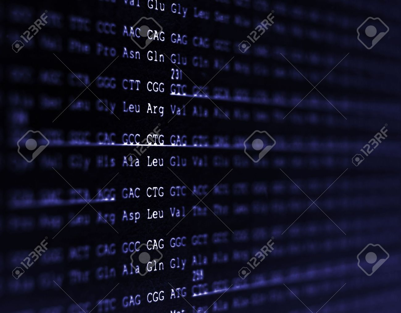 A DNA sequence from the human genome. Stock Photo - 2942425