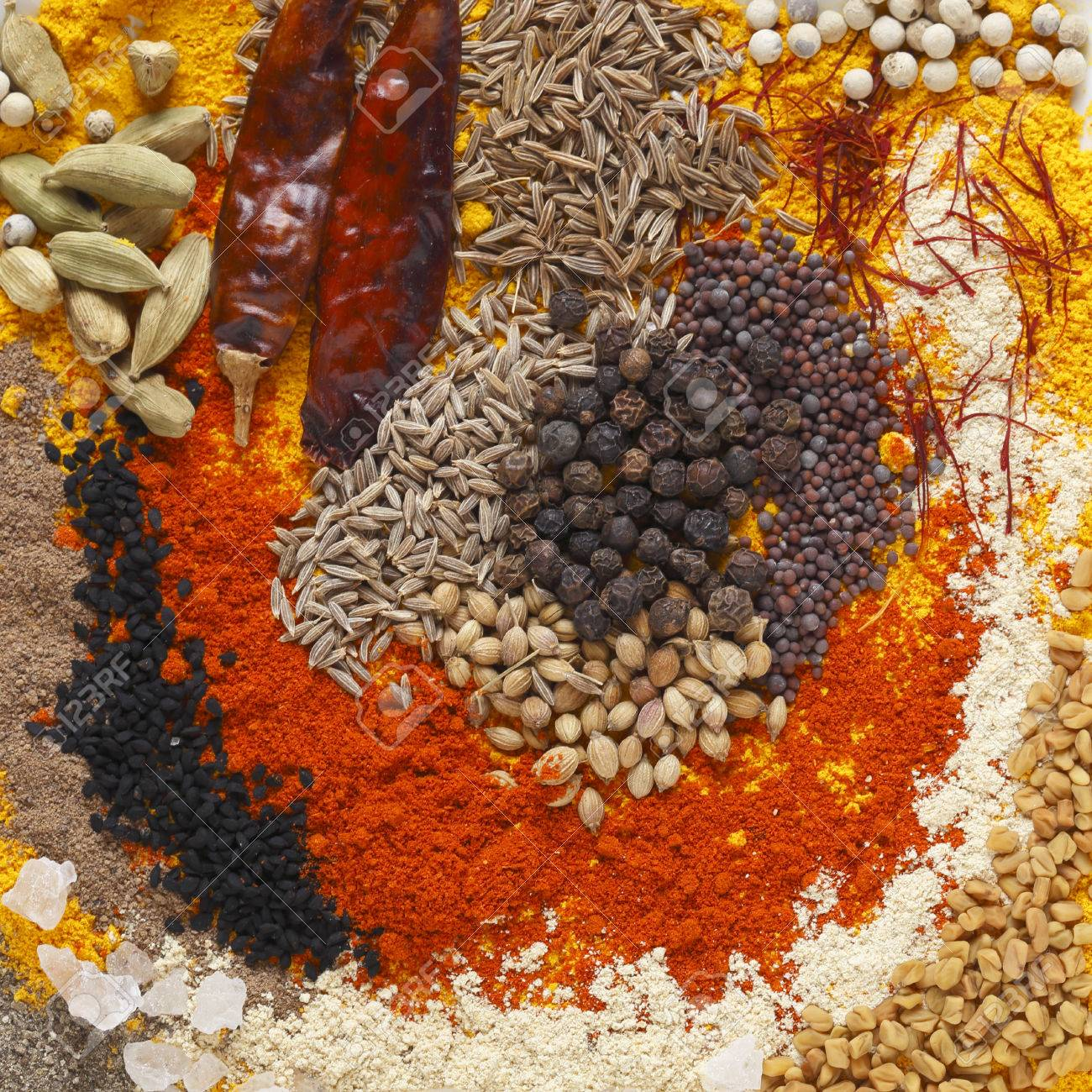 Image result for Spices including cumin, fenugreek