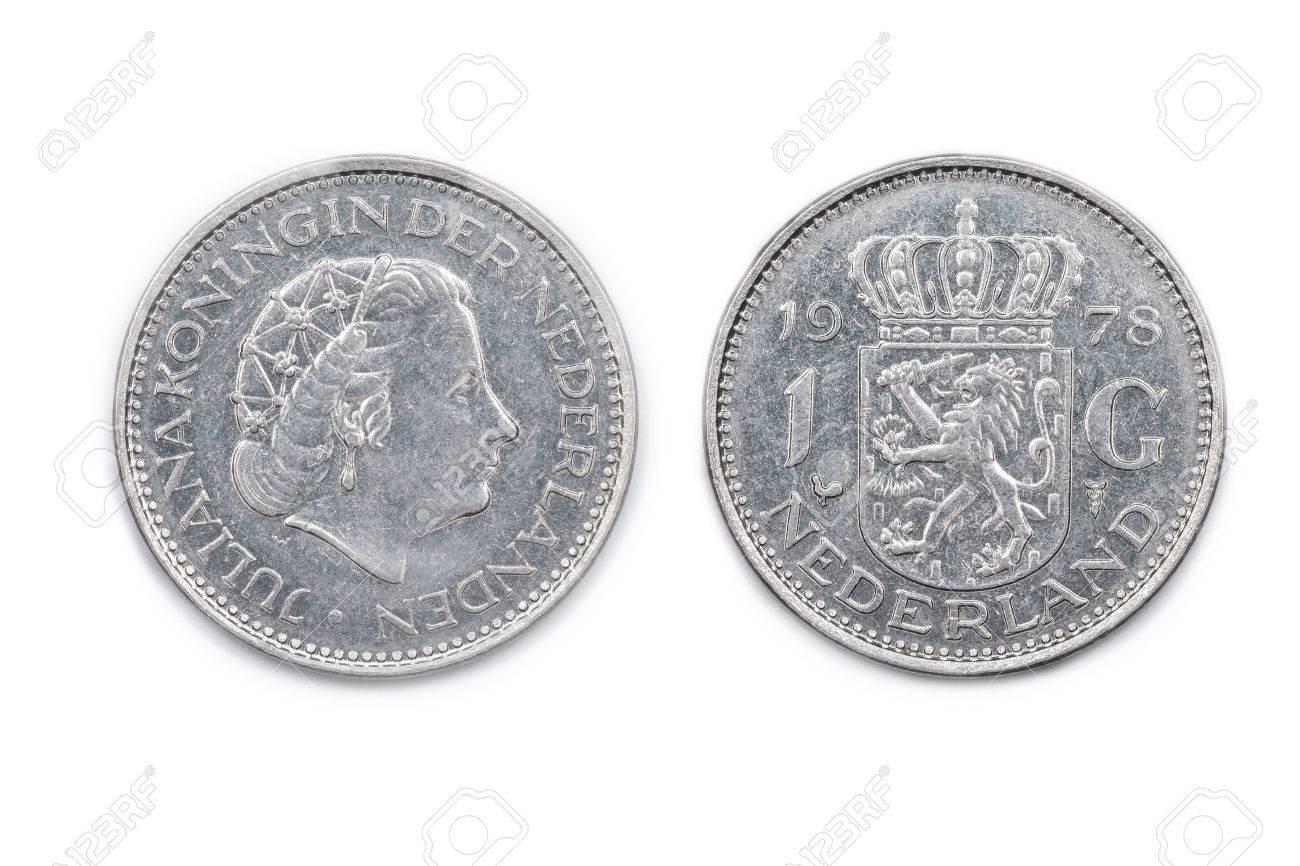 A Niederlande Einen Gulden Münze Geprägt 1978 Und Mit Königin