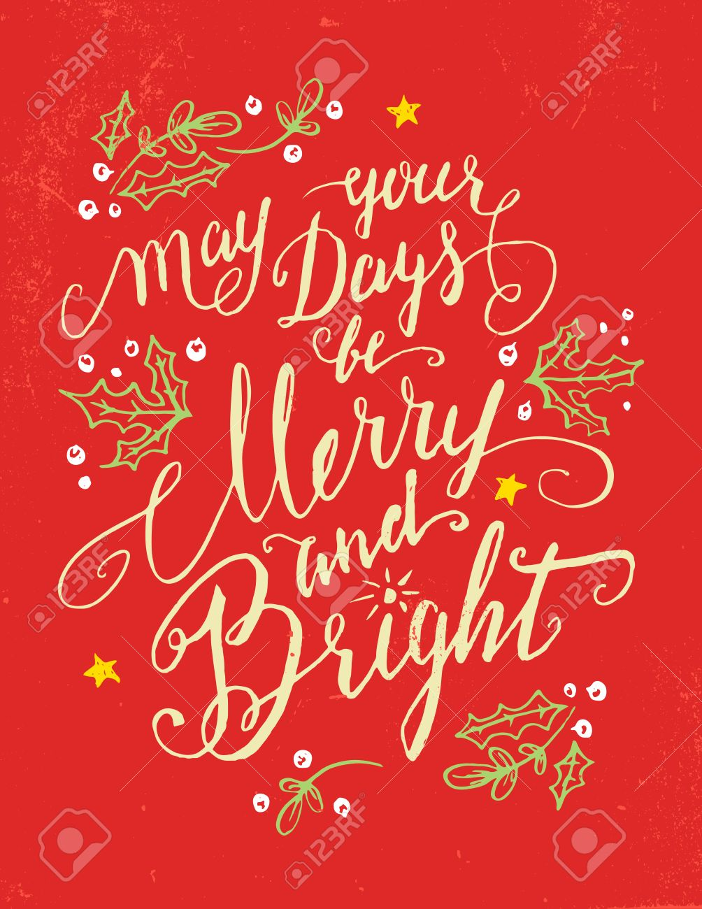 Stock illustration 3d red text quot yes quot stock illustration royalty - Holiday Greeting Card Calligraphy Quote In Vintage Style