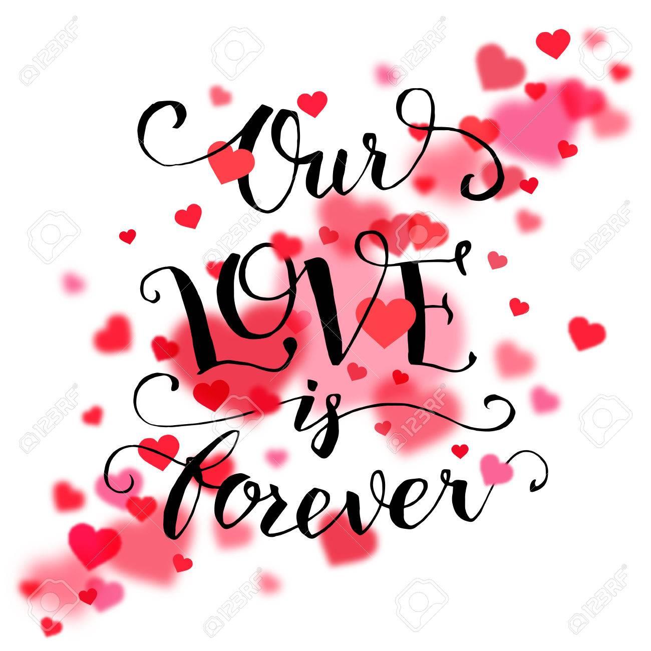 Unsere Liebe Ist Fur Immer Kalligraphie Zitat Handgeschriebener