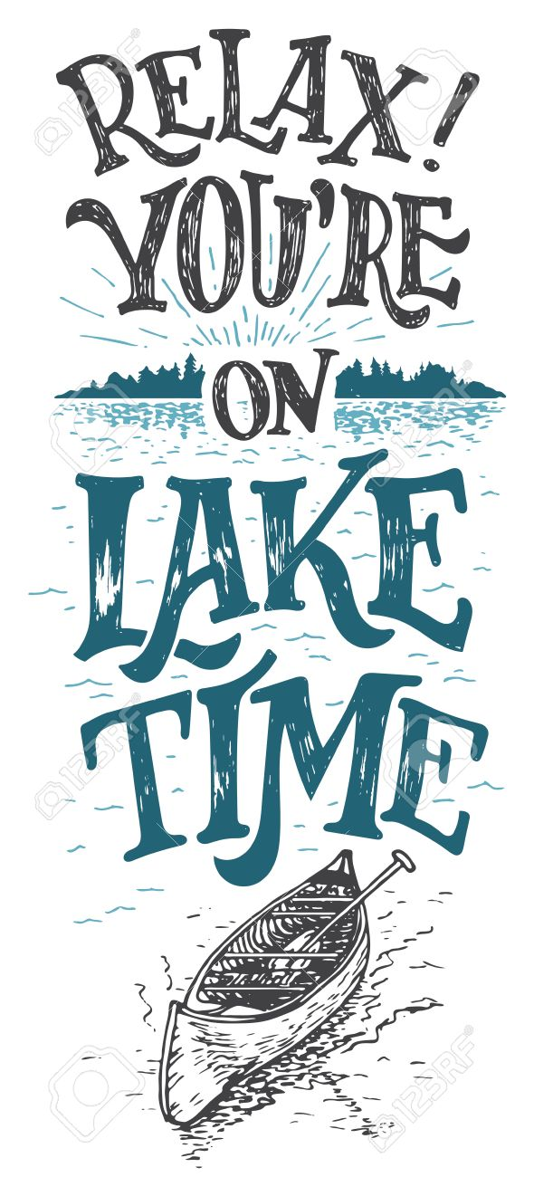 relax youre on lake time lake house decor lake sign