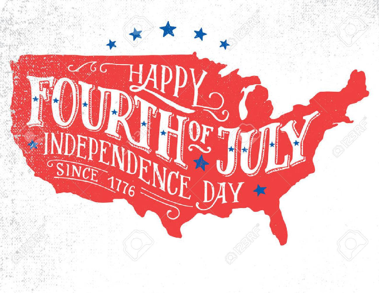 Happy Fourth Of July Independence Day Of The United States