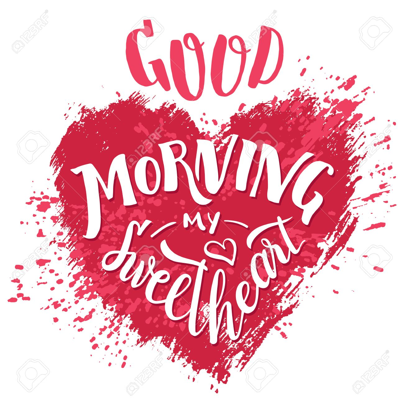 Good morning my sweetheart hand lettering valentines day good morning my sweetheart hand lettering valentines day greeting card typography poster design kristyandbryce Gallery